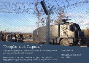 People not papers